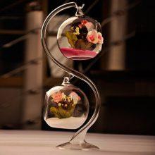 悬挂透明玻璃花瓶摆件,创意欧式可养多肉苔藓的微观瓶