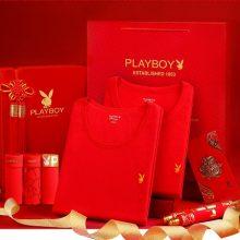 花花公子大红色保暖内衣套装,专属本命年的精美礼品