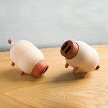 创意实木音乐盒系列,小猪小蘑菇云朵多款可选