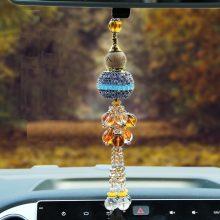 镶钻水晶葫芦香水汽车挂件,美观实用又芳香