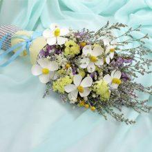 勿忘我干花混合花束,遇见一份恬静淡雅的美丽