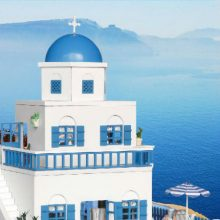 智趣屋圣托里尼岛木制拼装玩具,一场浪漫的海岛之旅