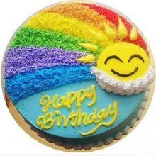 梦幻彩虹生日蛋糕,品尝一份多彩的甜蜜