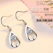 日韩气质S925银耳环,闪耀银饰让你做个耀眼女人