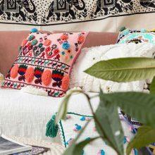 视觉味道印度摩洛哥风手工抱枕,素雅淡静居家必备