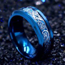 韩版霸气龙纹钛钢戒指,霸气坚毅的王者之戒