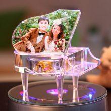 创意水晶钢琴音乐盒,定制属于你们的专属浪漫