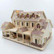 四联儿童益智拼装模型,让孩子拼出属于自己的花园洋房