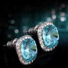 法国Eternelle奥地利仿水晶耳钉,适合气质高贵优雅的女性