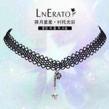 韩国露娜依蕾托蕾丝泰银choker项链,展现颈部的优美线条
