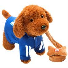 快乐音符儿童电动毛绒玩具,会动嘴扭屁股走路的可爱泰迪