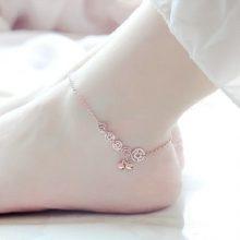 跳跃在脚踝处的钱币铃铛脚链,送女友闺蜜的创意小礼品