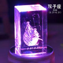 十二星座水晶音乐盒,实用又有创意的生日礼物