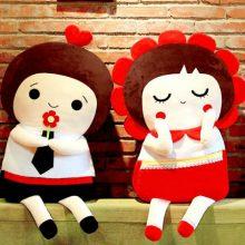 无独有偶创意结婚压床娃娃,让幸福像花儿一样绽放