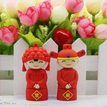 雪岩喜结良缘可爱卡通U盘,送给新郎新娘的创意婚庆礼物