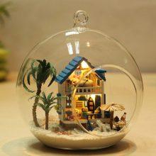 智趣屋创意玻璃球拼装玩具,岛屿爱情海童话古镇多款可选