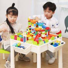 儿童益智积木玩具桌,培养孩子动手动脑能力