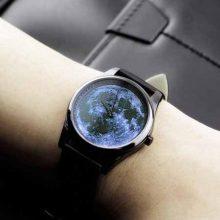 Enmex立体月球表面轮廓手表,创意感满满的酷炫男士手表