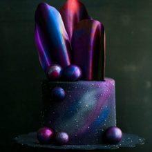 创意星空生日蛋糕,想要给你整条银河系的浪漫