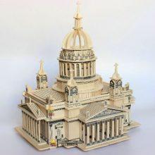 四联儿童益智拼组模型,让孩子们拼出属于自己的城堡教堂