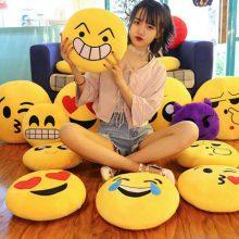 可爱创意QQ表情包抱枕,可以抱在手上的表情包