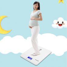 花潮分体设计测身高体重婴儿秤,一款宝宝和妈妈都能用的体重秤