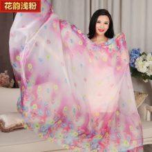 上海故事雪纺长款丝巾,可变身为飘逸的沙滩裙
