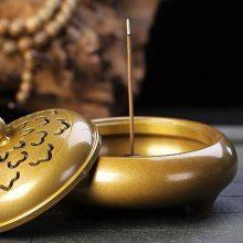 轩椽阁纯铜香薰炉茶道摆件,让你的室内充满雅致味道