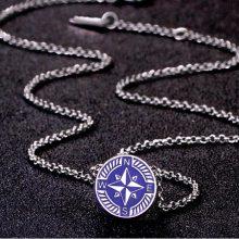 意大利潮牌brosway罗盘钛钢项链,男友的时尚品味由你打造