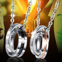 韩版网红戒指项链,男士潮流个性装饰品