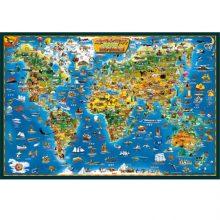 中文版世界地图木质拼图,儿童学习科普的智益玩具
