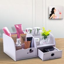 多功能化妆品收纳盒,让你的化妆桌从此摆放有序