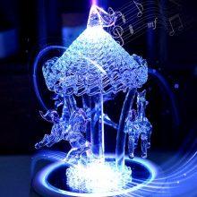 七彩水晶旋转木马音乐盒,送女友一份超唯美的浪漫