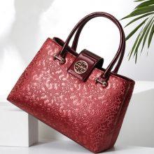 新款时尚简约风中年女士手提包,送给妈妈最好的礼物