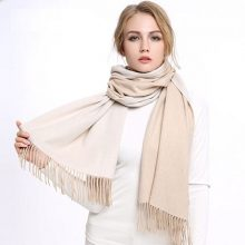 凌克双面羊绒女士围巾,这个冬天温暖她的心