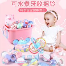 蜜悠克新生儿牙胶摇铃玩具,可水煮消毒呵护宝宝健康成长