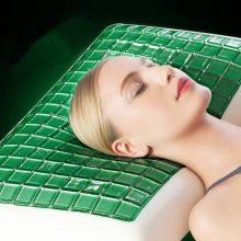 高档灵动绿岩凝胶护颈枕,正品成人记忆枕头助睡眠