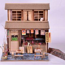 DIY小屋手工拼装模型,古式建筑散发岁月气息
