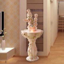 欧式天使流水喷泉摆件,可以摆放在室内的迷你喷泉池