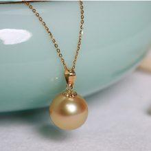 思漫珠宝南洋天然金色珍珠项链,送妈妈送女友的别致礼物