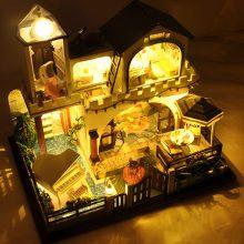 手工拼装DIY小屋模型,属于你的豪华休闲别墅