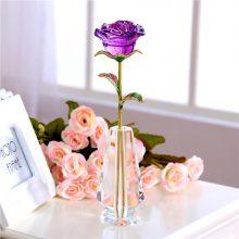 创意定制水晶玫瑰花,送给女友永不凋谢的爱