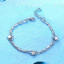 DIY刻字星座纯银手链,把你女朋友的名字刻在上面