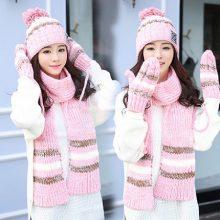 超可爱帽子围巾手套三件套,最温暖的呵护送给女朋友