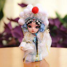 中国风京剧丝绢人偶娃娃,送外国友人的最佳礼品