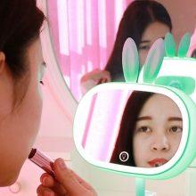 LED台式折叠补光化妆镜,正面补光呈现精致妆容