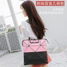 时尚百变折叠菱格女包,一款包包可变三种形状