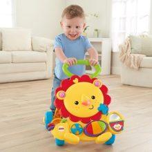 费雪2合1多功能宝宝学步车小狮子,还是非常有趣的益智玩具