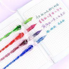 夜光系列创意玻璃蘸水笔,唯美又精致实用的蘸水笔