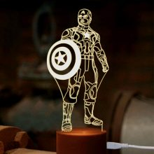 美国队长创意3D小夜灯,一款适合送给男友的时尚炫酷灯